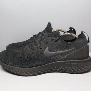 Nike Epic React Flyknit Triple Black Men Size 11.5